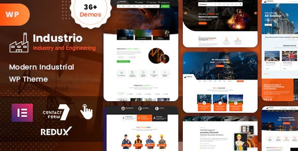 Industrio 1.0 – Industry & Factory WordPress