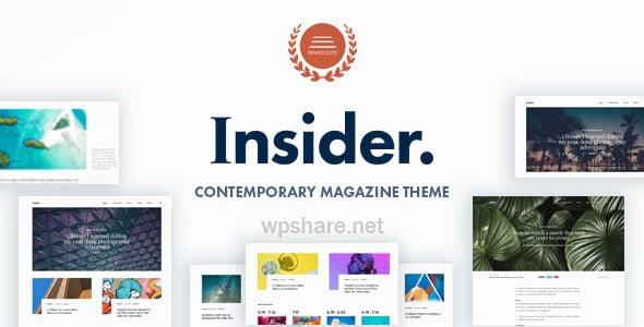 Insider 1.5 – Contemporary Magazine and Blogging Theme
