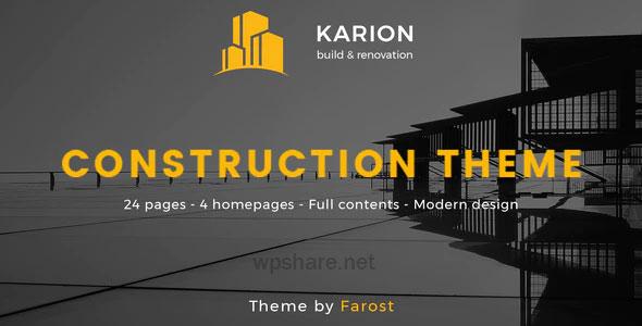 Karion 2.0 – Construction & Building WordPress Theme