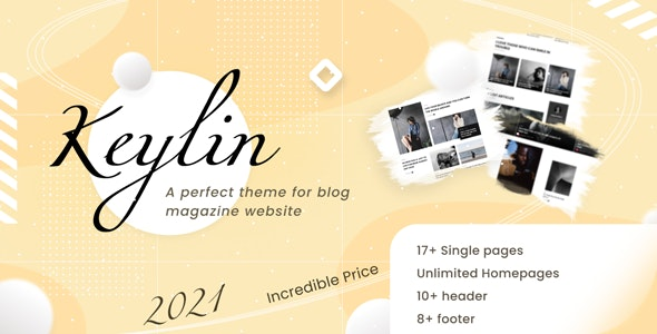 Keylin 1.5 – WordPress Magazine and Blog Theme