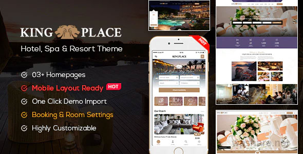 KingPlace 1.2.4 – Hotel Booking, Spa & Resort WordPress Theme