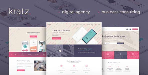 Kratz 1.0.3 – Digital Agency Marketing and SEO WordPress Theme