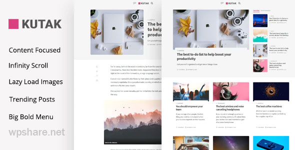 Kutak 2.2 – Minimal Blog WordPress Theme