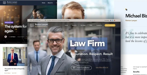 Lawyer 2.1.3 – Law firm and Legal Attorney WordPress Theme