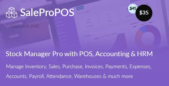SalePro 3.3.8 – Inventory Management System with POS, HRM, Accounting