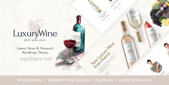 Luxury Wine 1.1.4 – Liquor Store & Vineyard WordPress Theme + Shop