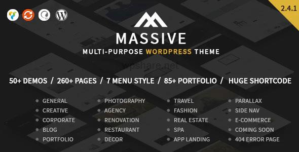 Massive 2.4.1 – Responsive Multi-Purpose WordPress Theme