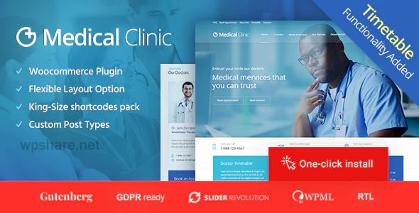 Medical Clinic 1.2.3 – Doctor and Hospital Health WordPress Theme