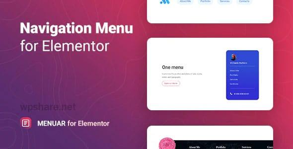 Menuar 1.0.0 – Navigation Menu for Elementor