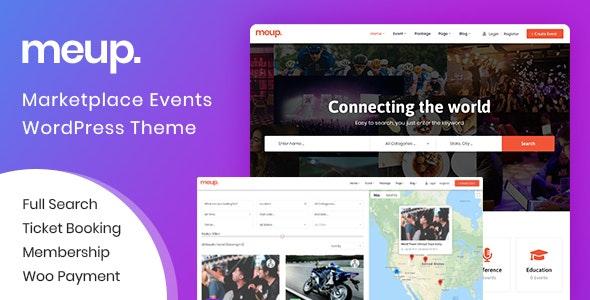 Meup 1.2.6 – Marketplace Events WordPress Theme