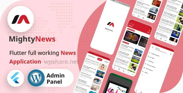 MightyNews 19.0 – Flutter 2.0 News App with WordPress Backend