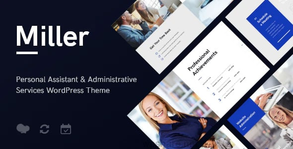 Miller 1.1.1 – Personal Assistant & Administrative Services WordPress Theme