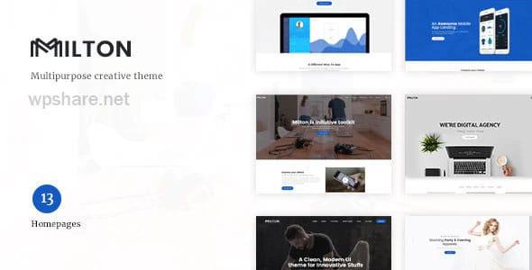 Milton 1.2.3 – Multipurpose Creative WordPress Theme