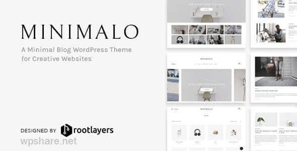 Minimalo 1.0.7 – A Minimal Blog WordPress Theme for Creative Websites