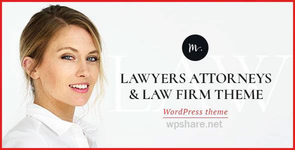 M.Williamson 1.2.1 – Lawyer & Legal Adviser WordPress Theme