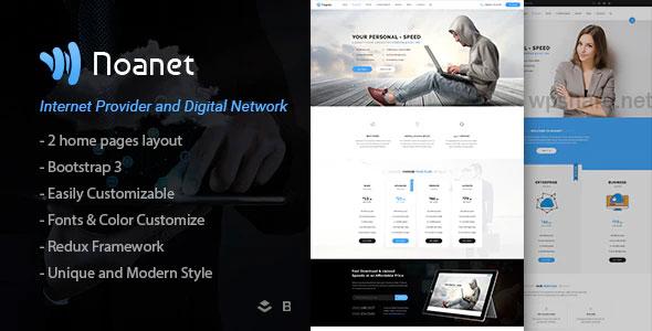 Noanet 2.13 – Internet Provider And Digital Network WordPress Theme