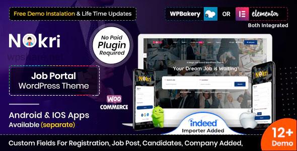 Nokri 1.4.5 – Job Board WordPress Theme