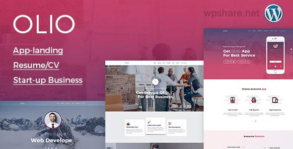 Olio 1.2 – One Page WordPress Theme
