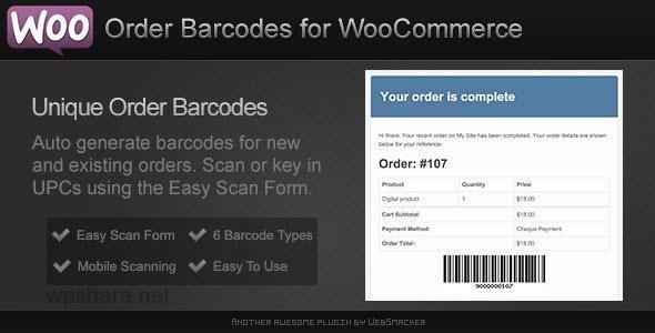 Order Barcodes for WooCommerce v2.2