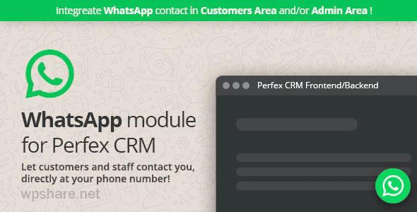WhatsApp module for Perfex CRM v1.0