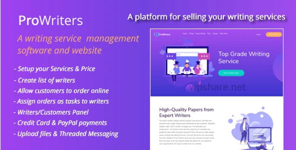 ProWriters 1.7 – Sell writing services online