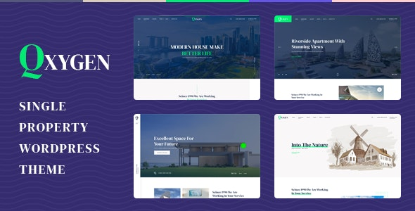 Qxygen 1.0.2 – Single Property WordPress Theme