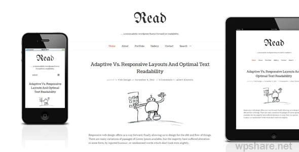 Read WP 4.5.4 – Minimalist WordPress Blog Theme