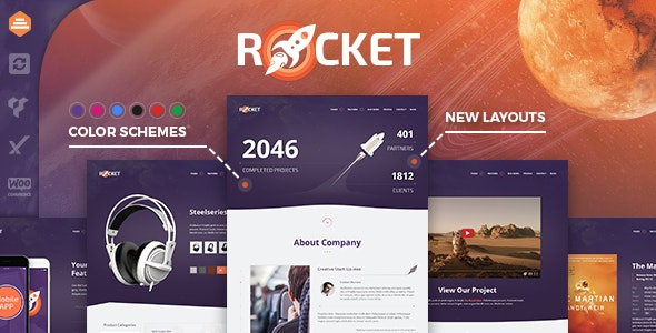 Rocket 2.9.2 – Creative Multipurpose WordPress Theme