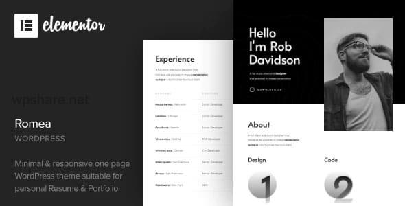 Romea 1.2 – Personal Portfolio WordPress Theme