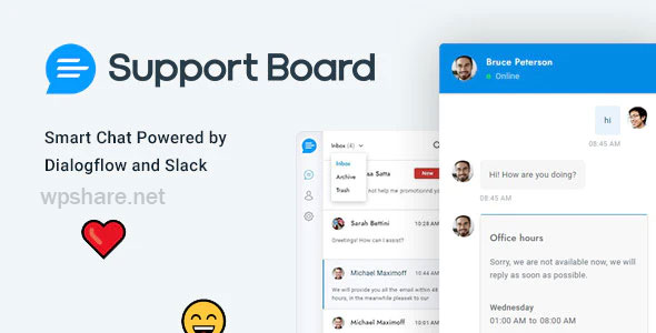 Chat – Support Board – PHP Chat Application v3.1.3