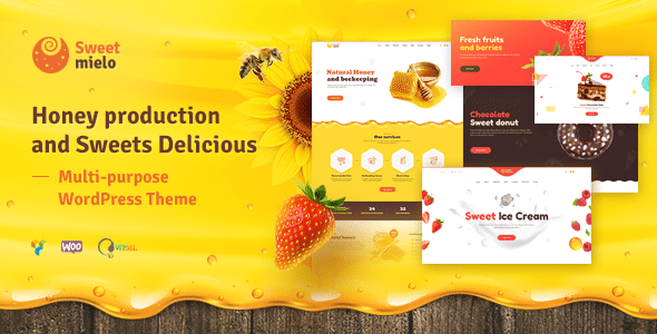 SweetMielo 1.6.7 – Honey Production and Sweets Delicious WordPress Theme