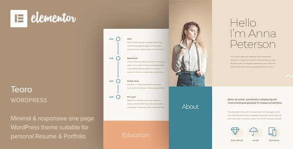 Teoro 1.0 – CV Resume WordPress Theme