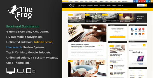 The Frog 3.8 – Creative News / Blog Magazine & Front-end Submission WP Theme