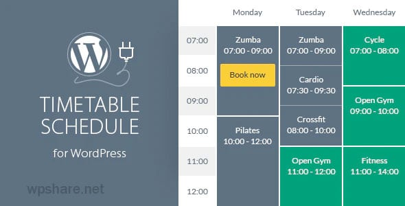 Timetable Responsive Schedule For WordPress v6.4