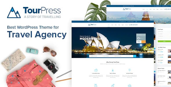 TourPress 1.1.8 – Travel Booking WordPress Theme
