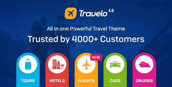 Travelo 4.2.3 -­ Travel/Tour Booking Responsive WordPress Theme