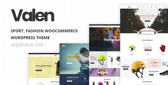 Valen 2.1 – Sport, Fashion WooCommerce WordPress Theme