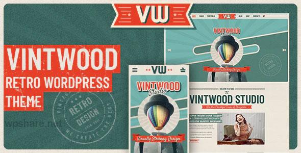 VintWood 1.0.8 – a Vintage, Retro WordPress Theme