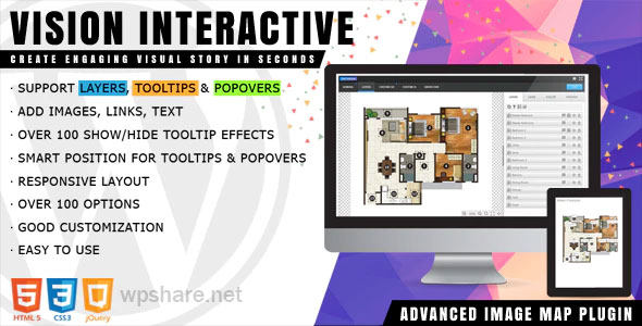 Vision Interactive 1.4.4 – Image Map Builder for WordPress