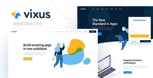 Vixus 1.0.6 – Startup & Mobile App WordPress Landing Page Theme