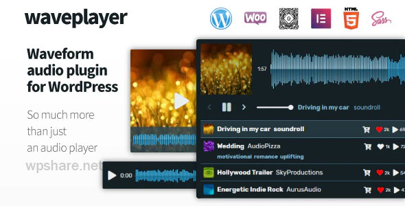WavePlayer 3.1.3 – Waveform Audio Player for WordPress and WooCommerce