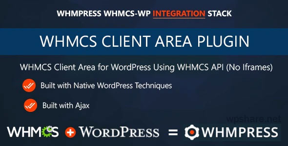 WHMCS Client Area for WordPress by WHMpress v3.9