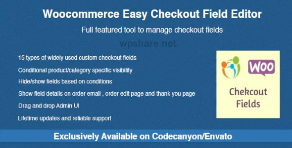 Woocommerce Easy Checkout Field Editor v2.5.3