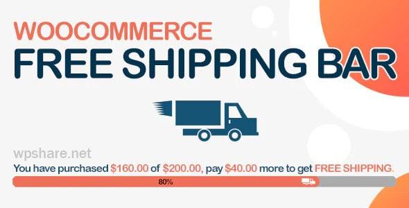 WooCommerce Free Shipping Bar 1.1.6.3 – Increase Average Order Value