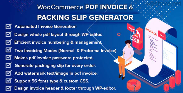 WooCommerce PDF Invoice & Packing Slip with Credit Note v2.0.3