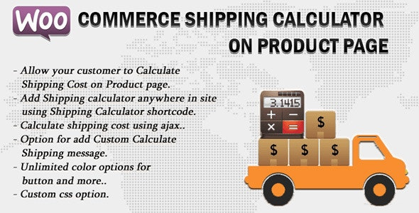 Woocommerce Shipping Calculator On Product Page v2.7