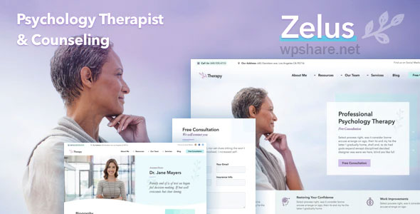 Zelus 1.3.5 – WordPress Theme for Psychology Counseling