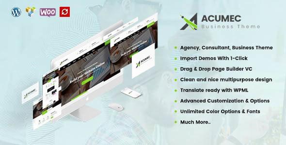 Acumec 1.5.1 – Business Multipurpose WordPress Theme