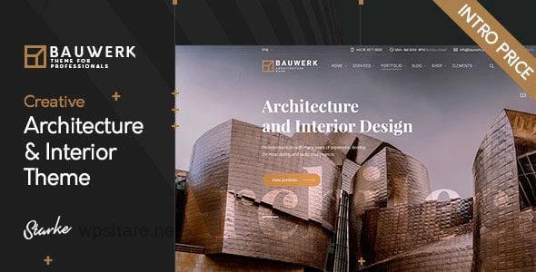 Bauwerk 1.0 – Interior Design & Architecture WordPress Theme