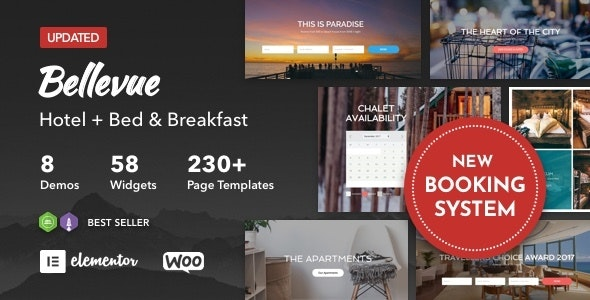 Bellevue 3.3 – Hotel + Bed and Breakfast Booking Calendar Theme
